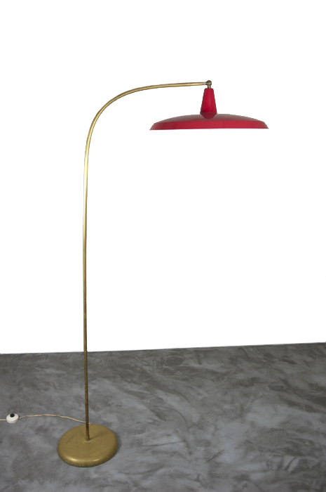 1950s Italian Brass Floor Lamp