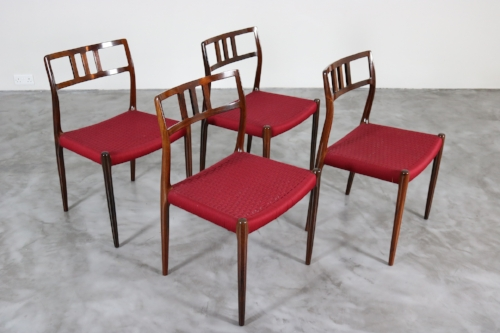 Niels Otto Moller  Set of 4 Rosewood Model 79 Chairs
