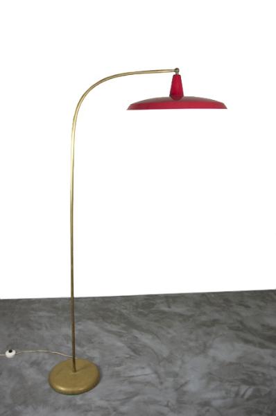 1950s Italian Brass Floor Lamp