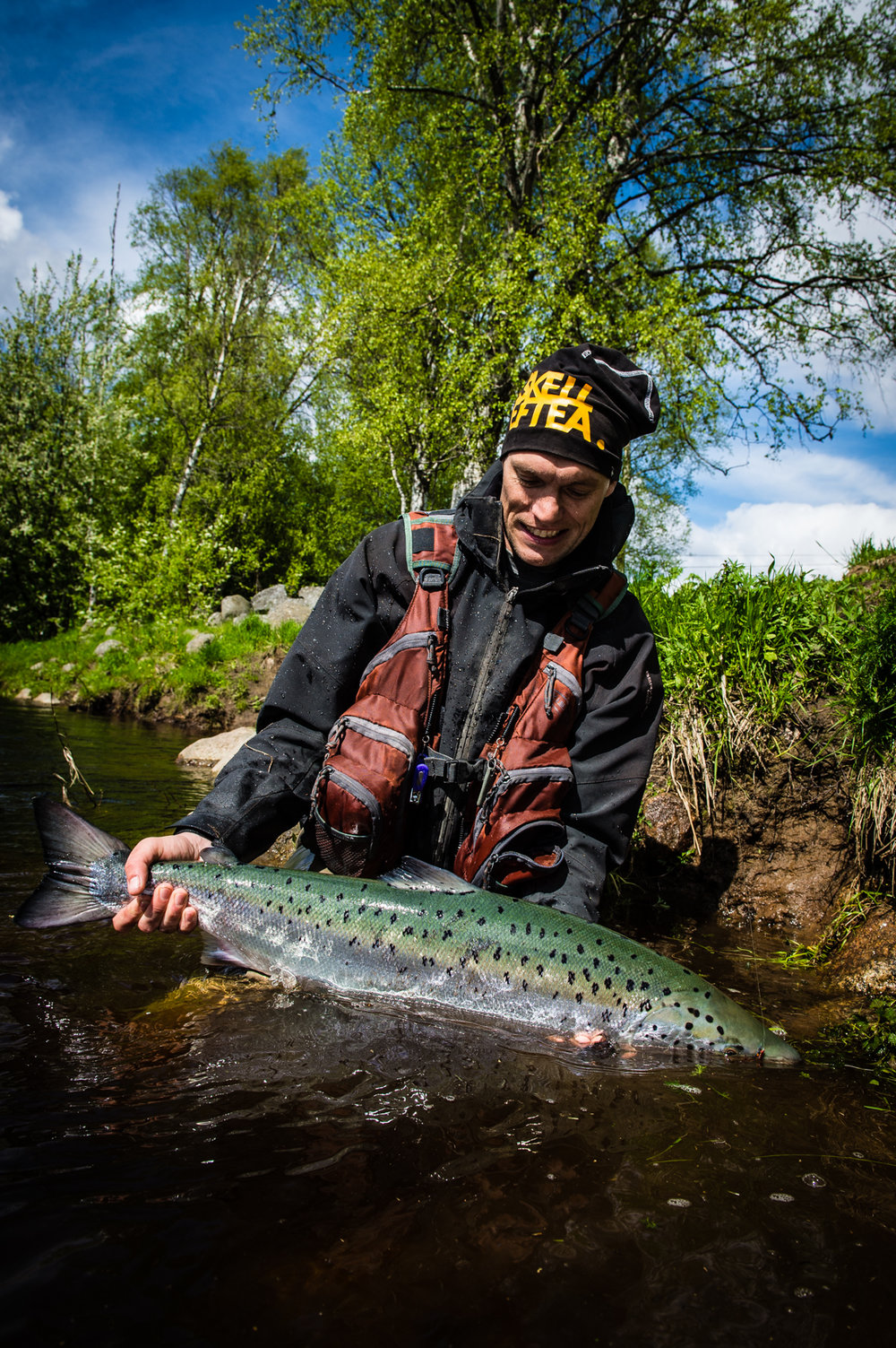 This is Adam, and to Adam there is nothing more rewarding than a fresh run salmon from the rivers up north.