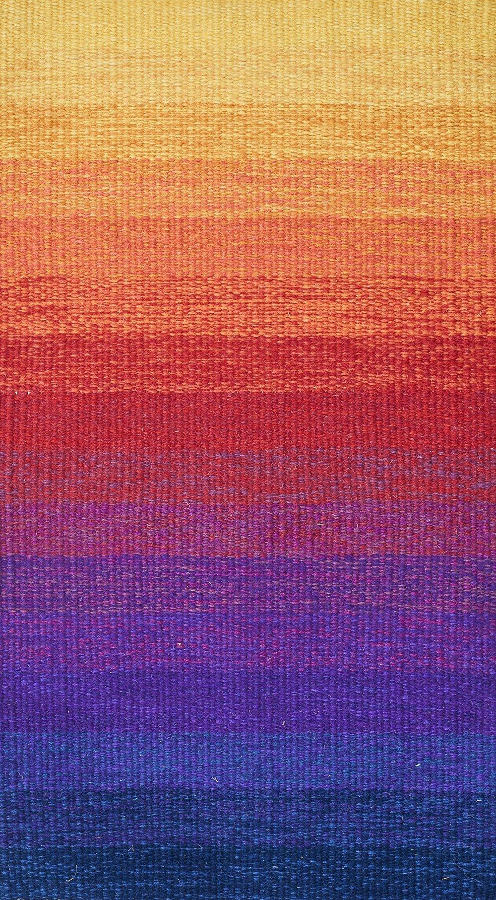 JJ0140  Wool & linen. 49 x 86 cm.