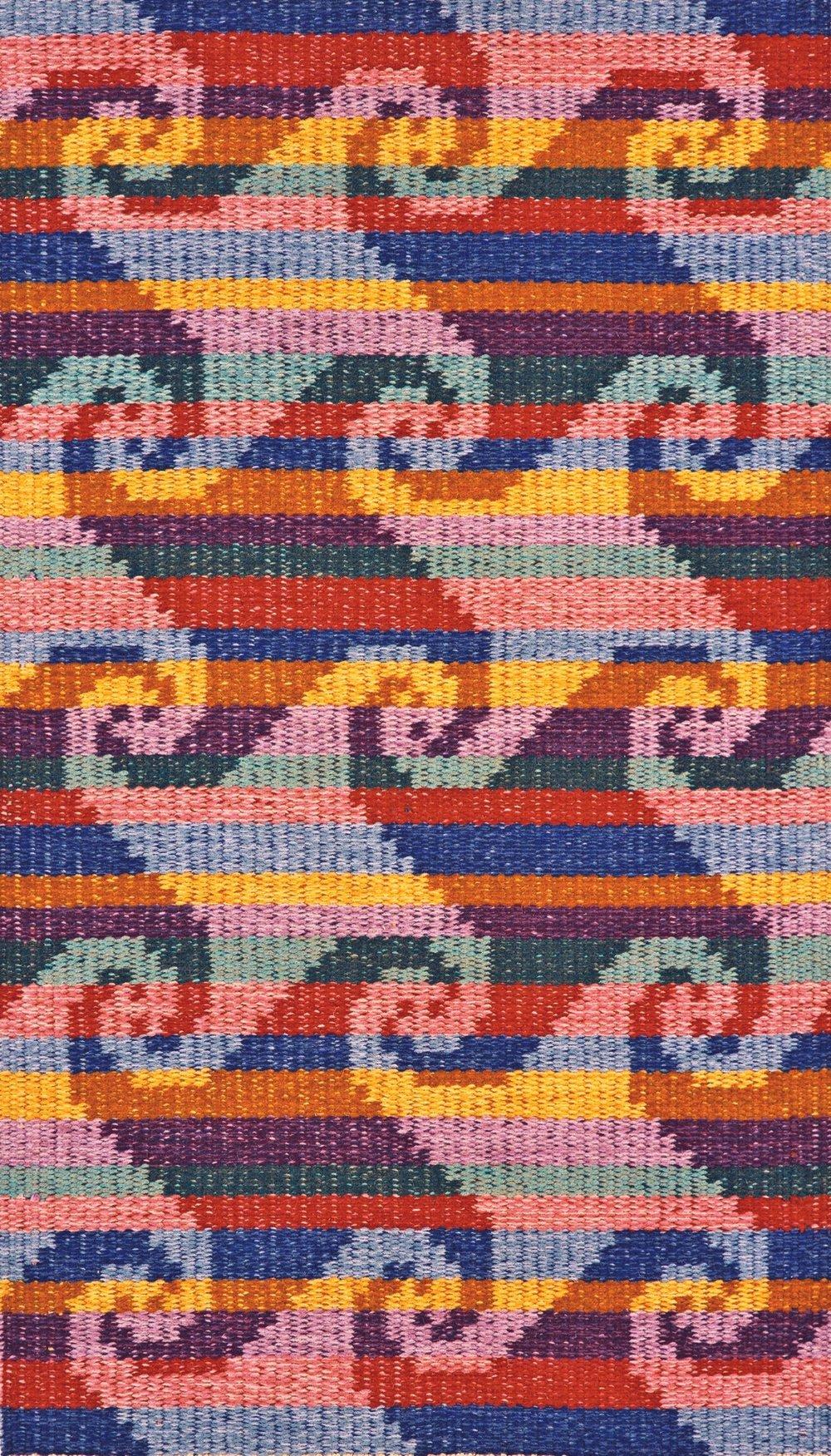 JJ0092.  Wool & linen. 94 x 160 cm.