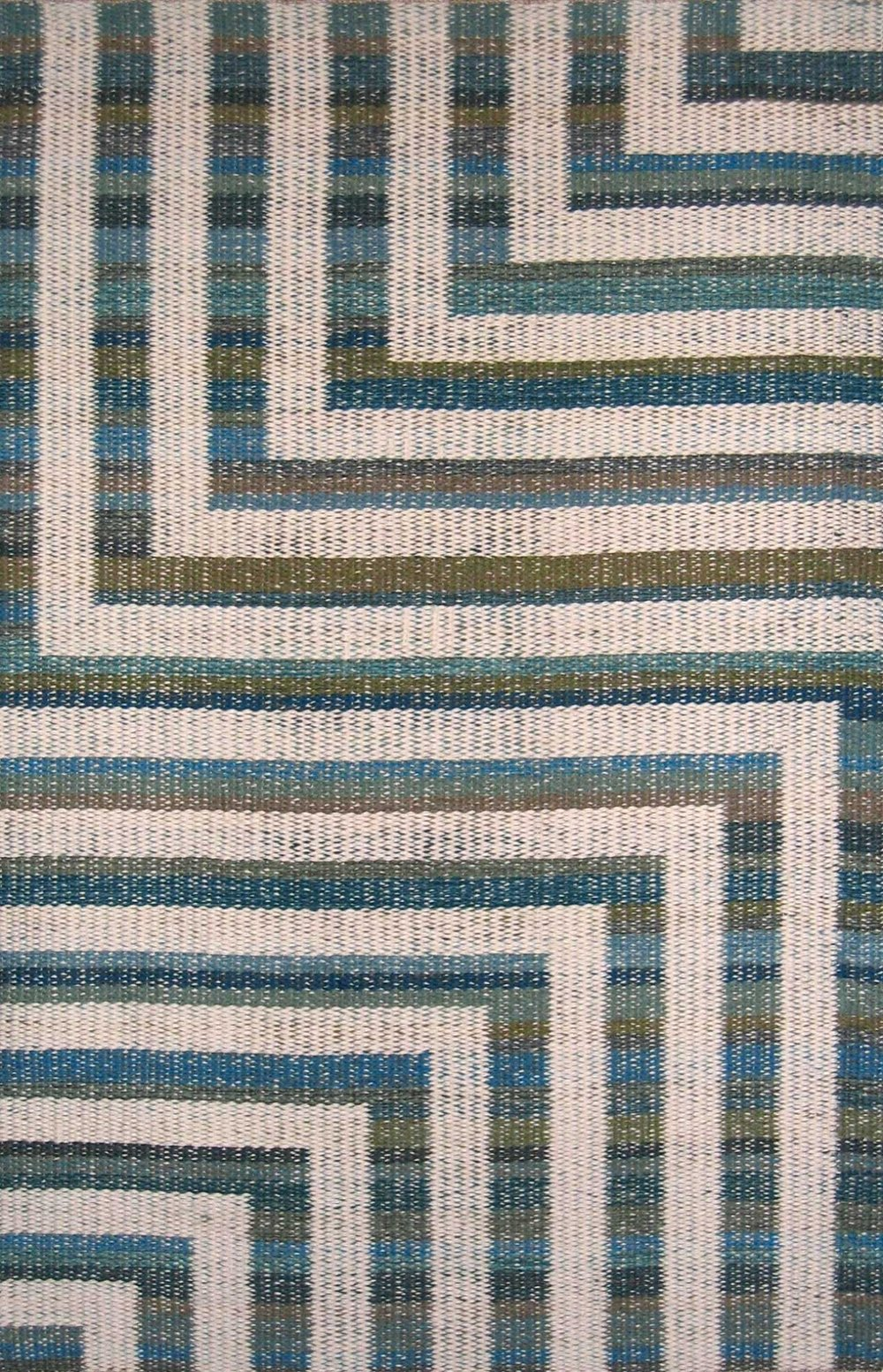 JJ0115.  Wool & linen. 108 x 163 cm.