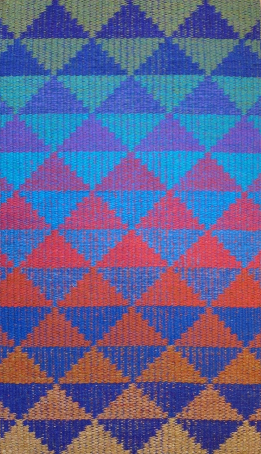 JJ0124. 'Changes'.  Wool & linen. 98 x 160 cm.