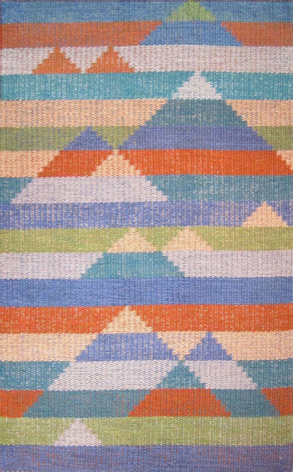 JJ0125.  Wool & linen. 97 x 158 cm.