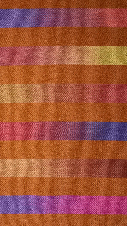 JJ0152  Wool & linen. Hand dyed weft. 94 x 152 cm.