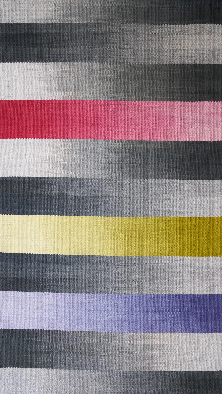 JJ0145                     Cotton & linen. Hand dyed weft     103 x 175 cm