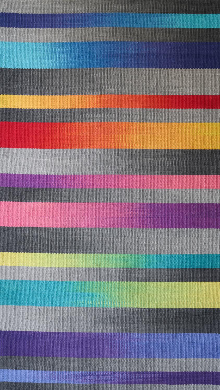 JJ0148                     Cotton & linen. Hand dyed weft.    104 x 178 cm