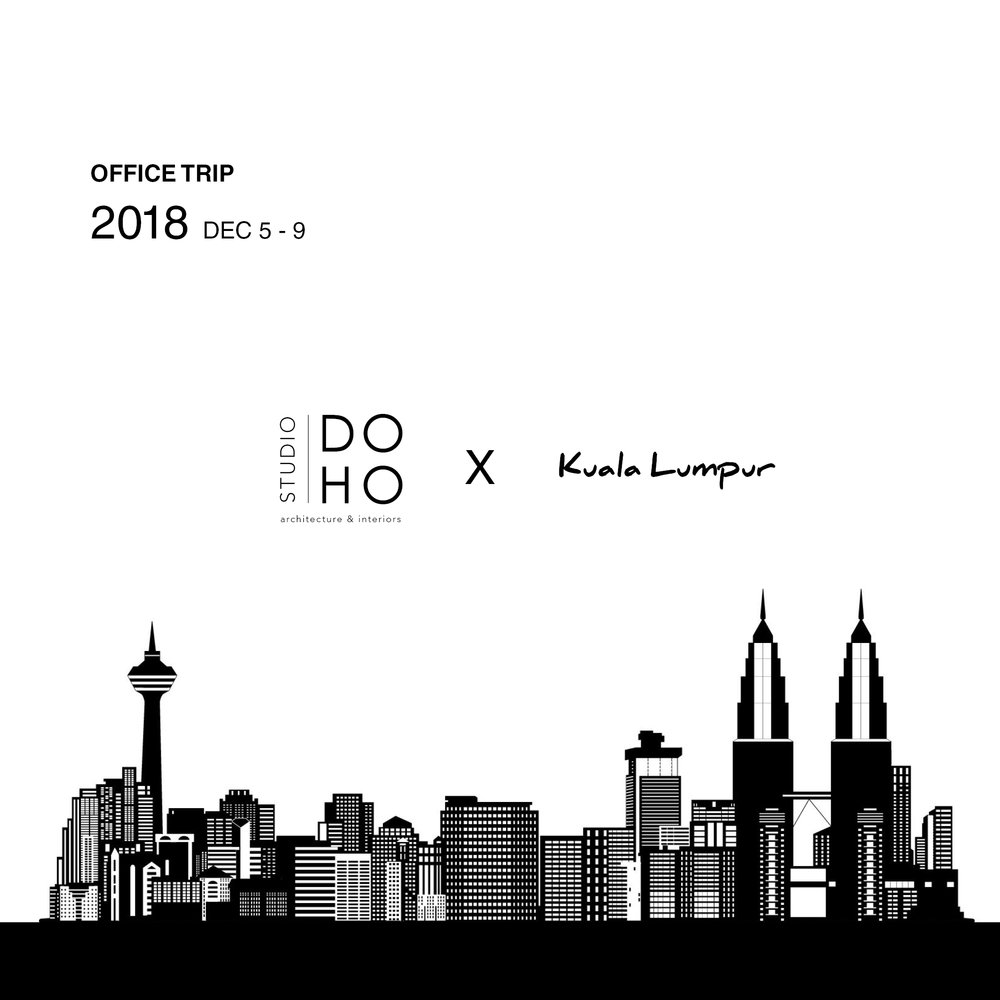 KL Office Trip 2018 - It has been a busy and an exciting year for STUDIO DOHO, so as the end of the year approaches we decided to have a bit of relaxation and fun. Our team traveled to tropical Kuala lumpur (Malaysia) to soak up some culture, indulge in street food and hang out by the pool. Lots of durians were consumed…