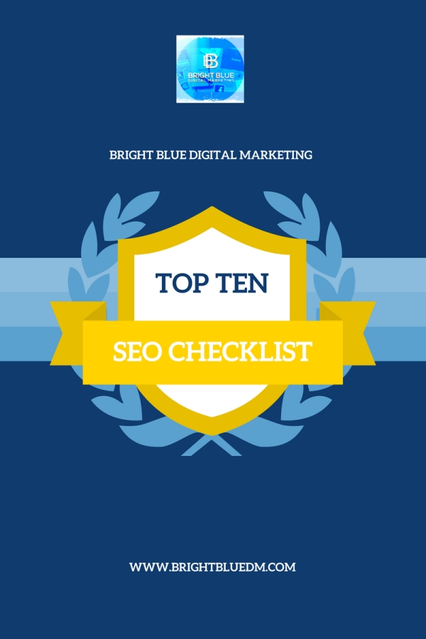 Top Ten SEO Checklist - Bright Blue