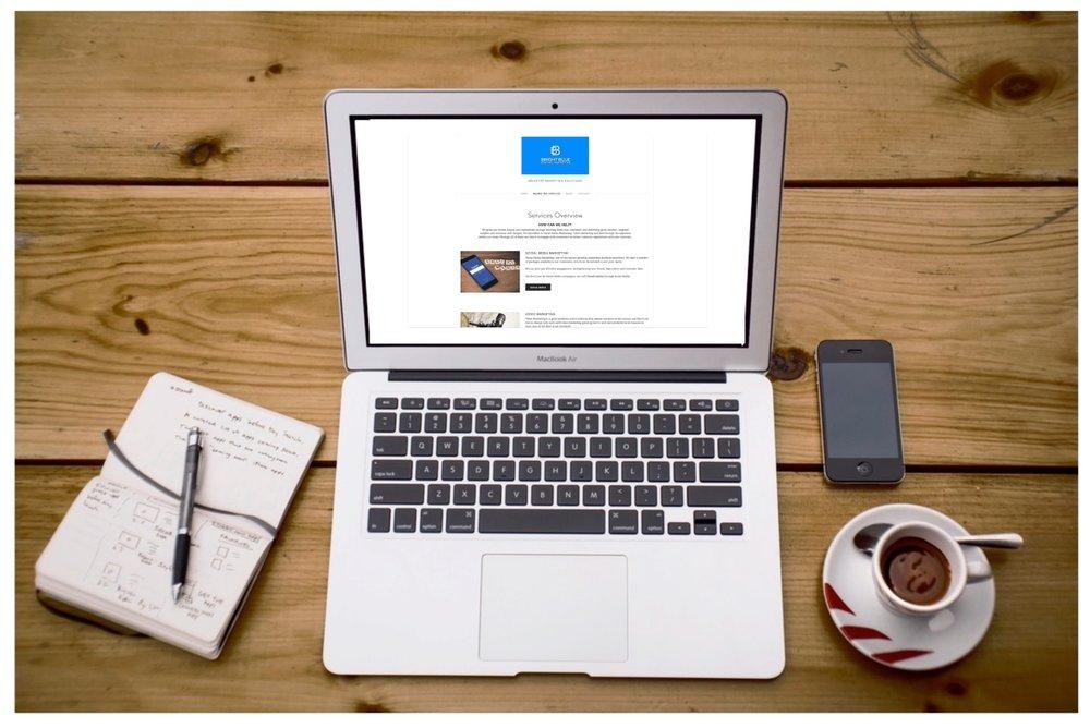 Bright-Blue-Computer-Coffee-Social-Agency