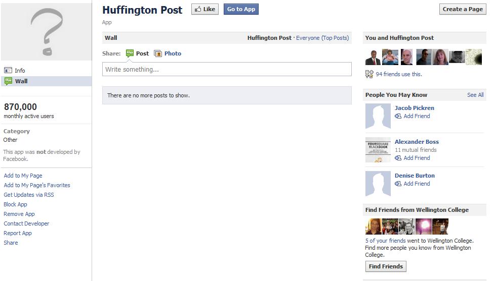 Huffington-Post-Homepage-Facebook-App-Bright-Blue-Blog