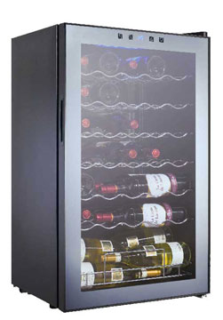 34WMC Capacità 34 bottiglie Porta vetro a specchio A/L/P:         833 x 495 x 425mm