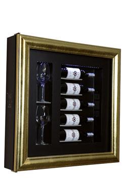 CLASSIC S5    WINE COOLER Cornice Classic; 5 bottiglie/2 bicchieri A/L/P:           780 x 780 x 155mm