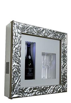 DUNE C1 CHAMPAGNE COOLER   Rahmen Dune 1 Flasche/2 Gläser H/B/T: 600x600x155 mm