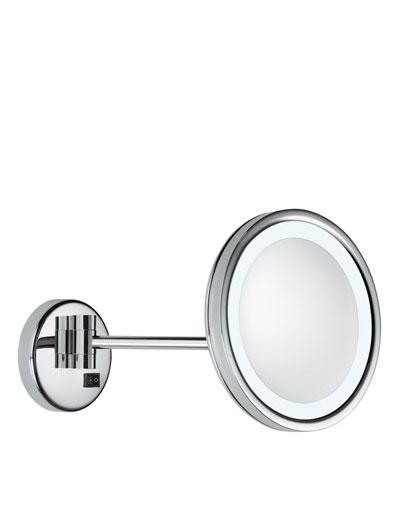 OPTIMA LIGHT  an Wandhalterung montierter, LED-beleuchteter Spiegel