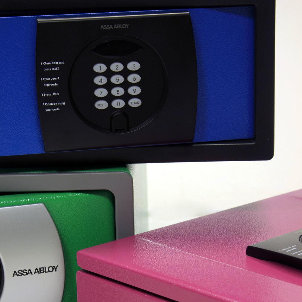 Neue Farben und Sicherheits-Zertifizierungen für die elektronischen Elsafe-Hoteltresore -