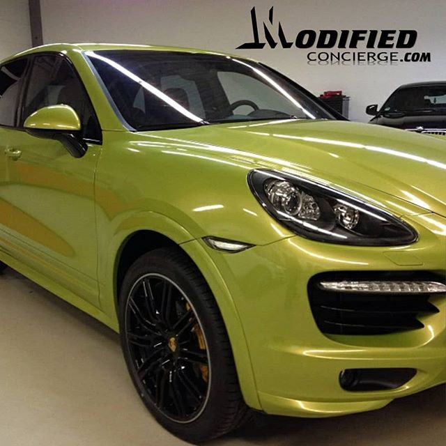Forcing the sun out with this 2017 Porsche Cayenne GTS 😎 Upgrades:  3M electric lime vinyl Gloss black wheel powdercoating Ceramic window tint 20% LIKE/COMMENT/SHARE 👇👇👇-----Tag a PORSCHE  #athlete #audi #a7 #mcmakeover #customautobuilders #exotics #cars #trucks #suv #customconcierge #modifiedconcierge #performance #powdercoat #vinylwrap #atl #atlanta #accents #wheels #tires #entertainment #custom #highend #luxury #share #carporn #tag #followme #comment #instalike #repostwhizw