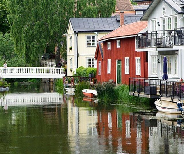 Norrtälje, Sweden. A small town with centuries-old buildings, located an hour from Stockholm. Photo by Jacqueline Macou. #norrtälje
