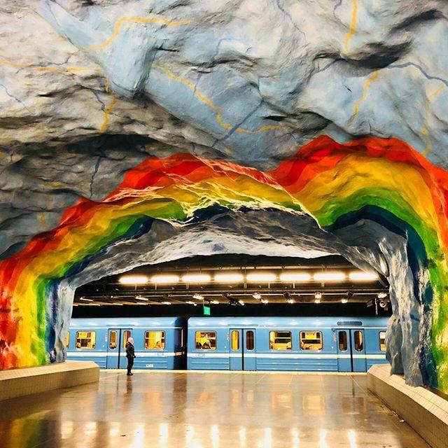 Artwork, Stockholm Train Station. 🇸🇪 Photo by Norman Taul. #travelsweden