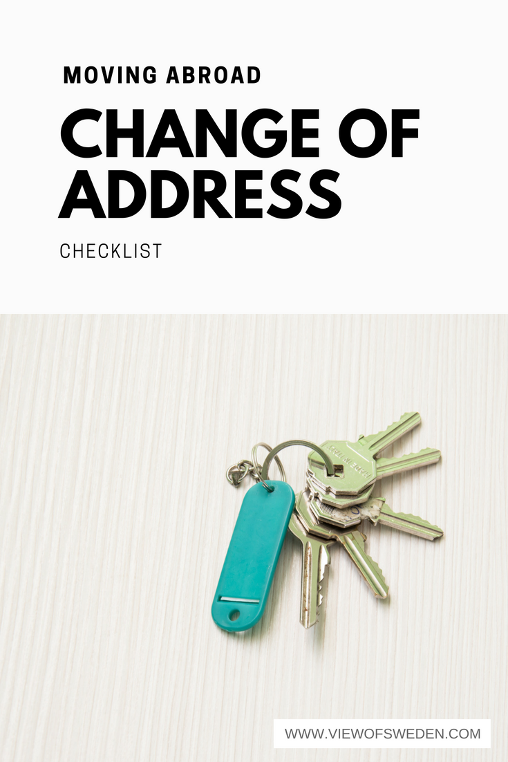 Change of address checklist