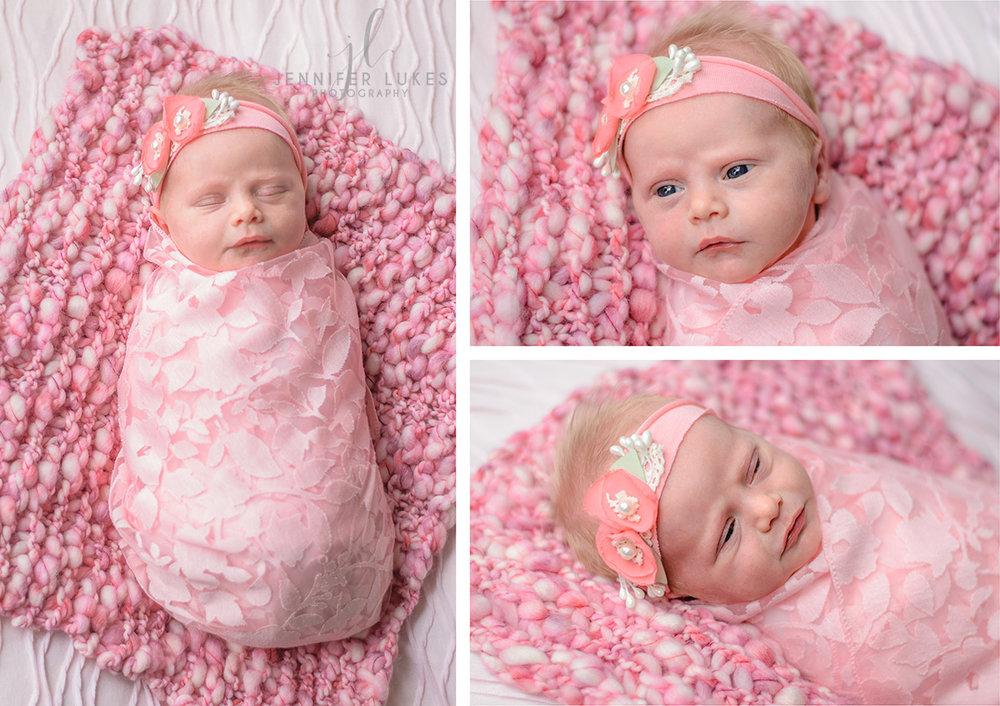Seattle Eastside Newborn Girl in Pink