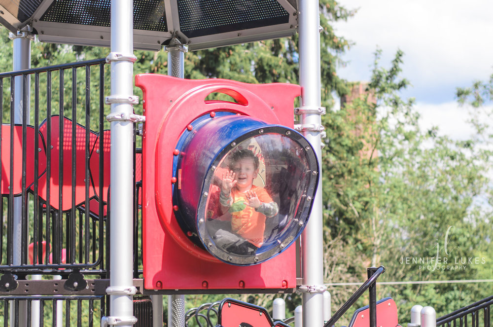 Boy in Bubble Panel Luther Burbank Park