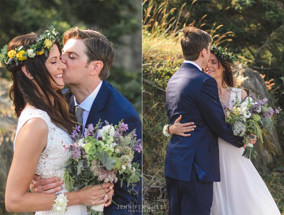 Washington Coast Bride and Groom Portraits