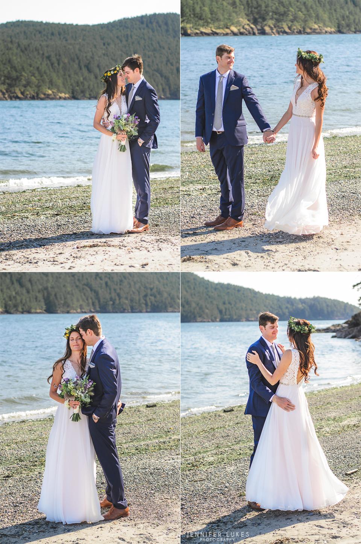 Washington Coast Wedding Beach Portraits