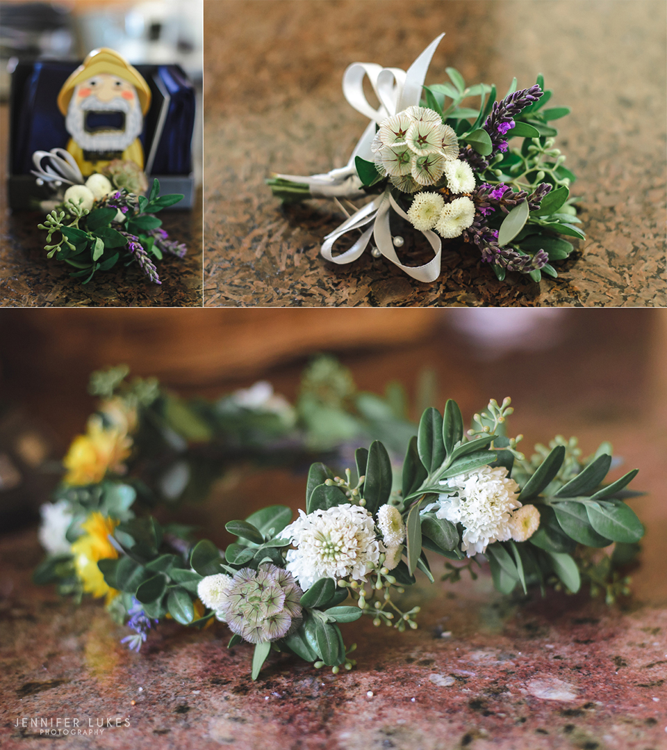 Washington Coast Wedding Floral Details