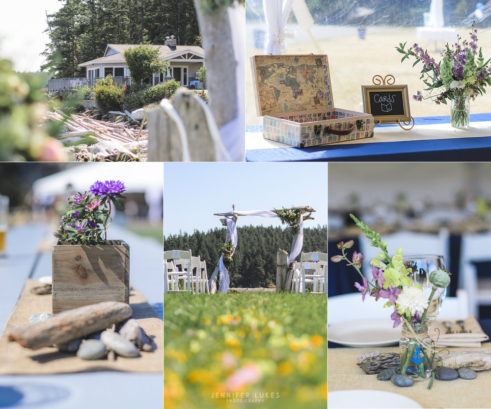 Washington Coast Wedding Venue Decor