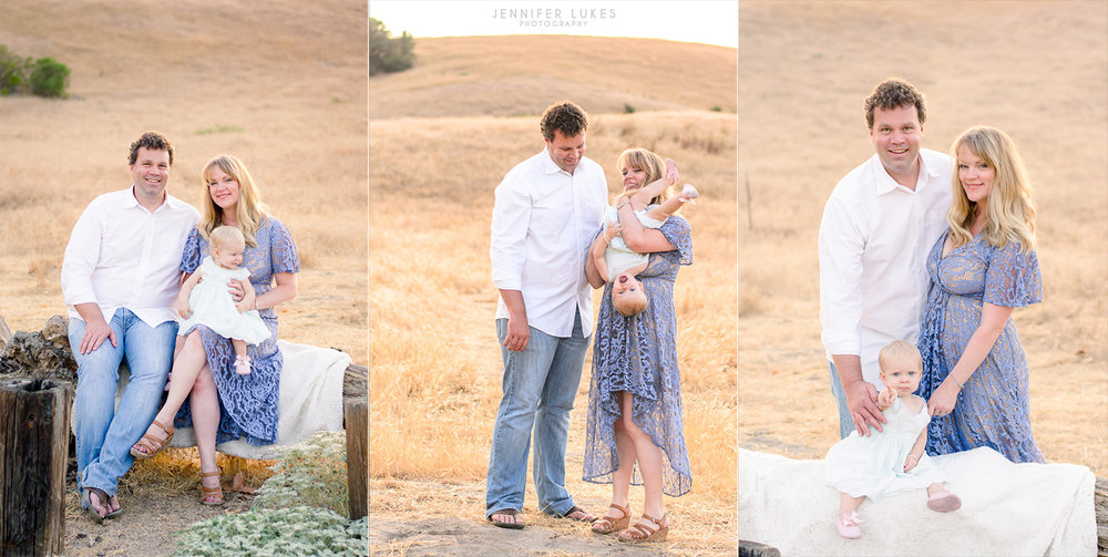 Seattle family photos during golden hour