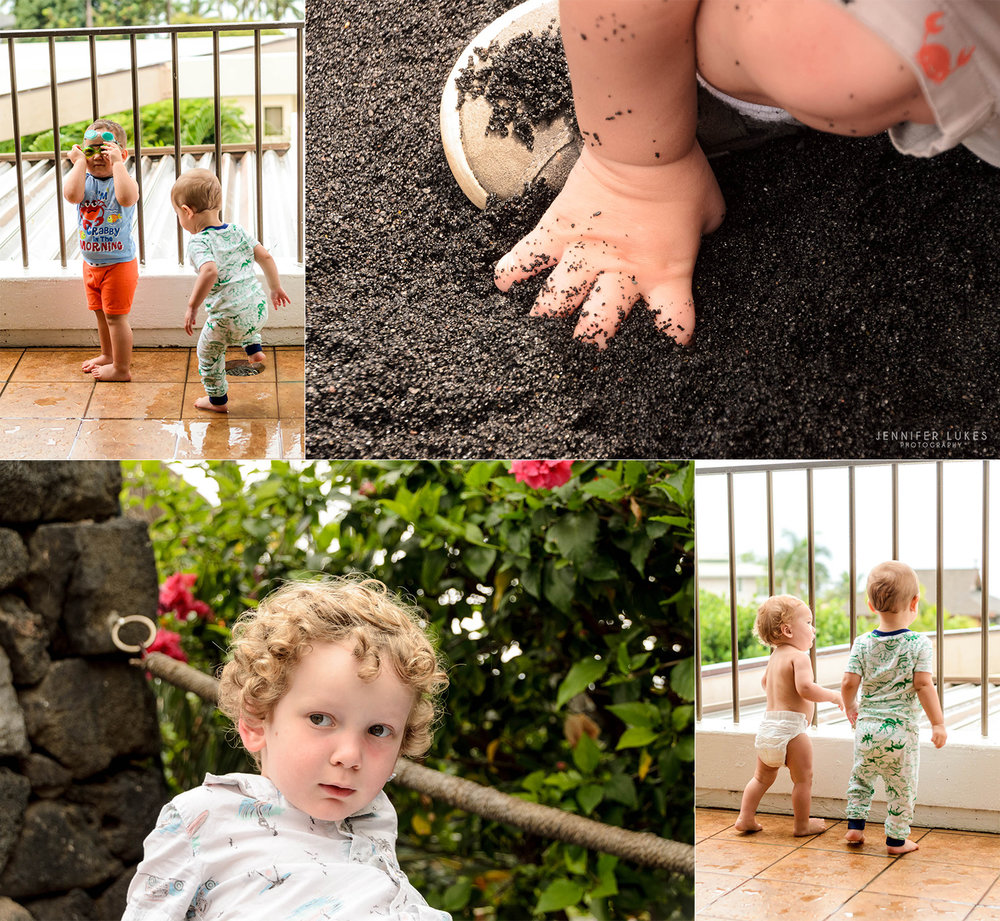 Candid moments of Bellevue kids on their first Hawaiian vacation.