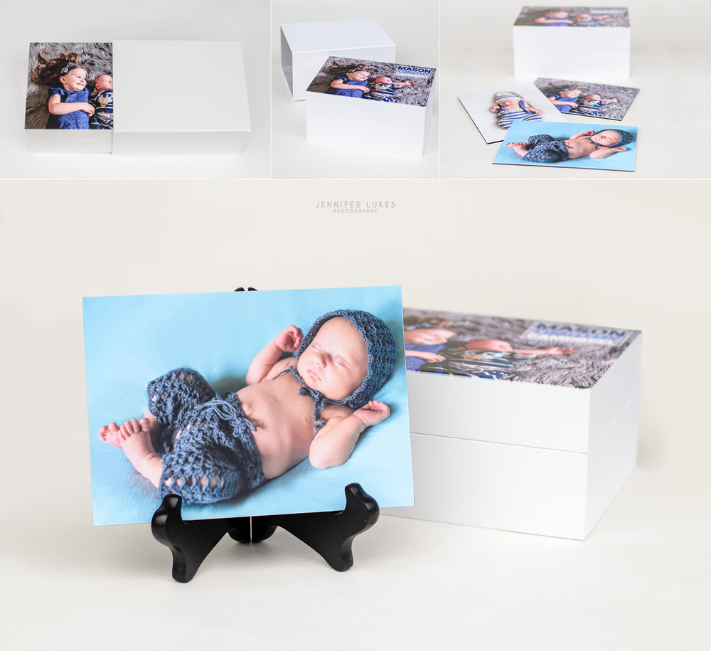 Image boxes containing 20 mounted images are a modern alternative to traditional albums.