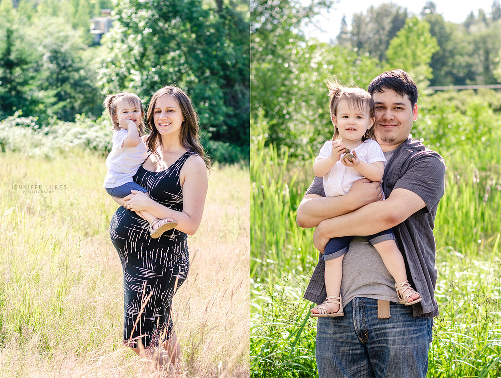 bellevue family maternity with little girl
