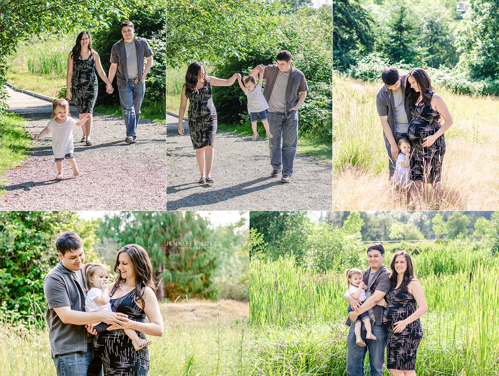 Bellevue maternity family photos outdoors