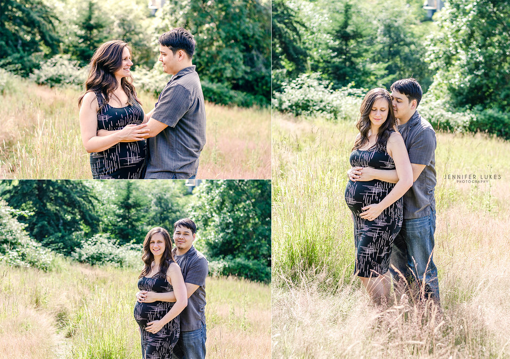 bellevue couples maternity session