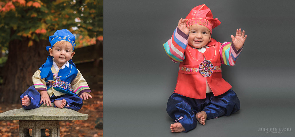 Bellevue babies first birthday cultural outfits.