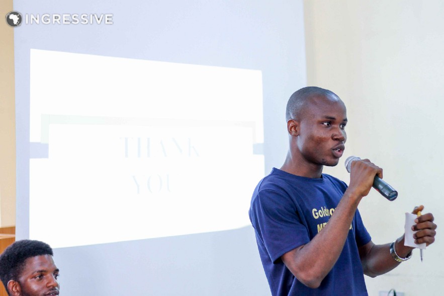 Ayobami ojeniyi Abimbola, a farmer, blogger and crypto trader speaking on Building Internet Business In Our Community