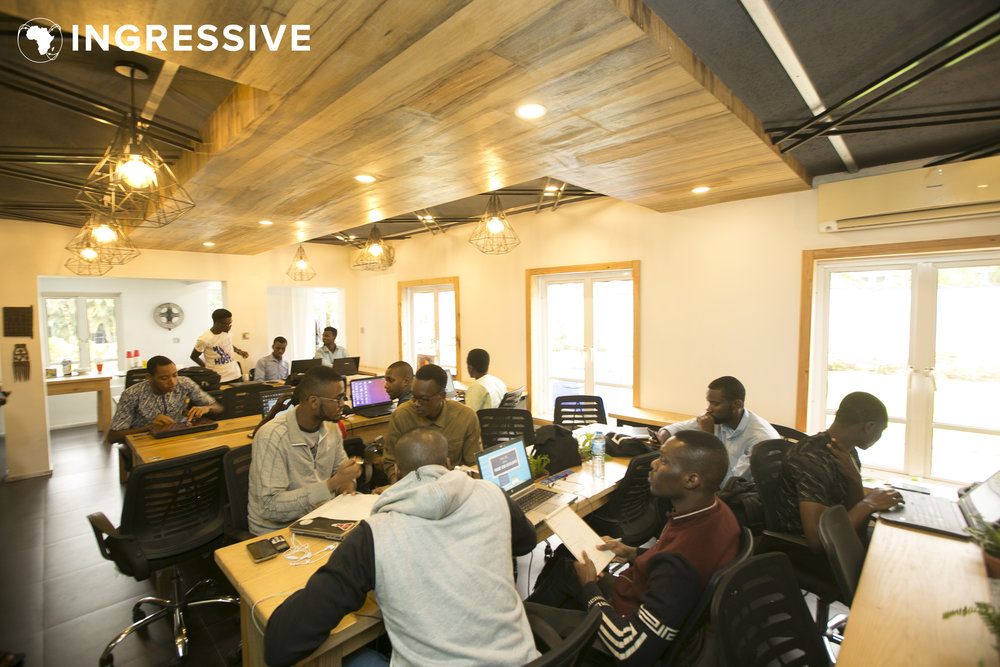 Students and Developers at the Figma X Github Hackathon in Lagos