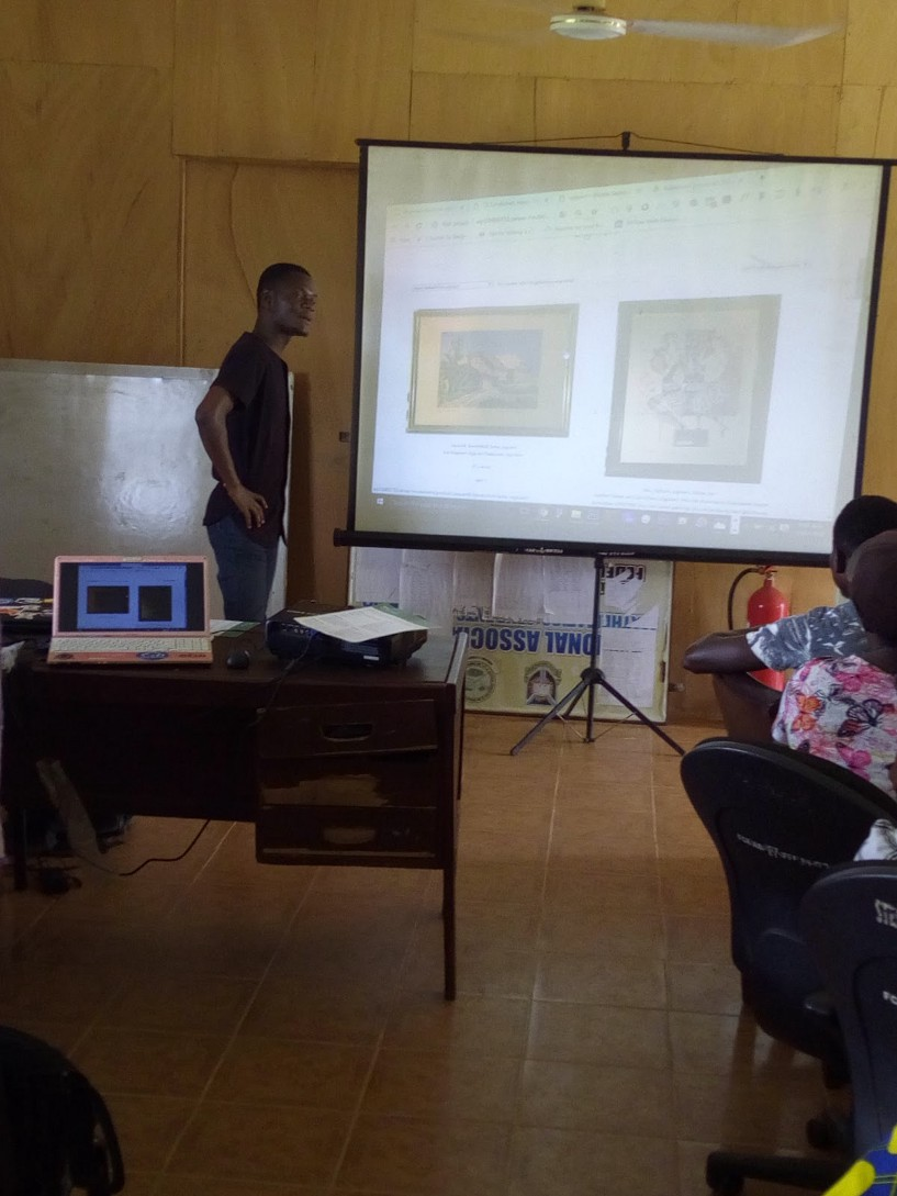 Oluwatosin explaining the concepts of Figma as a design tool