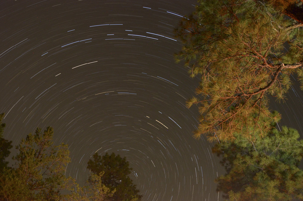 Star trails at Grand Canyon