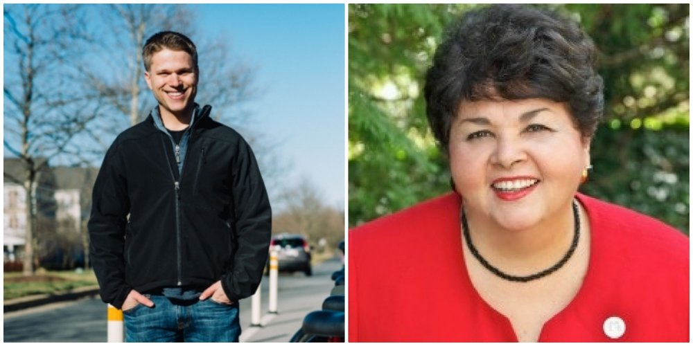 District 3 County Council candidate Ben Shnider, left, and District 1 candidate Ana Sol Gutierrez have been endorsed by the MCEA.