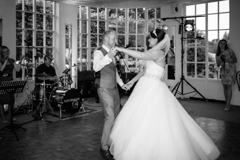 Katy and Ben First Dance Warwickshire Wedding Band