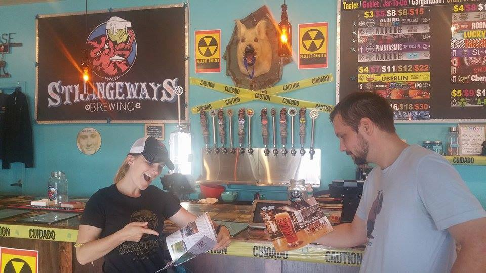 Strangeways crew checking out our Issue #8 publication a few years ago