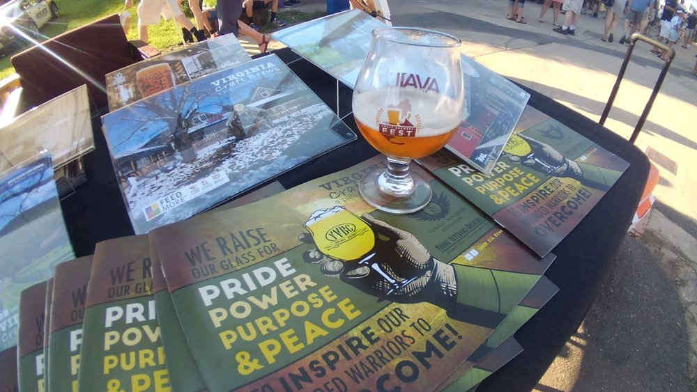 Another great brew we tried, James River Brewing -Tuber IPA...along with the current issue for folks to read.