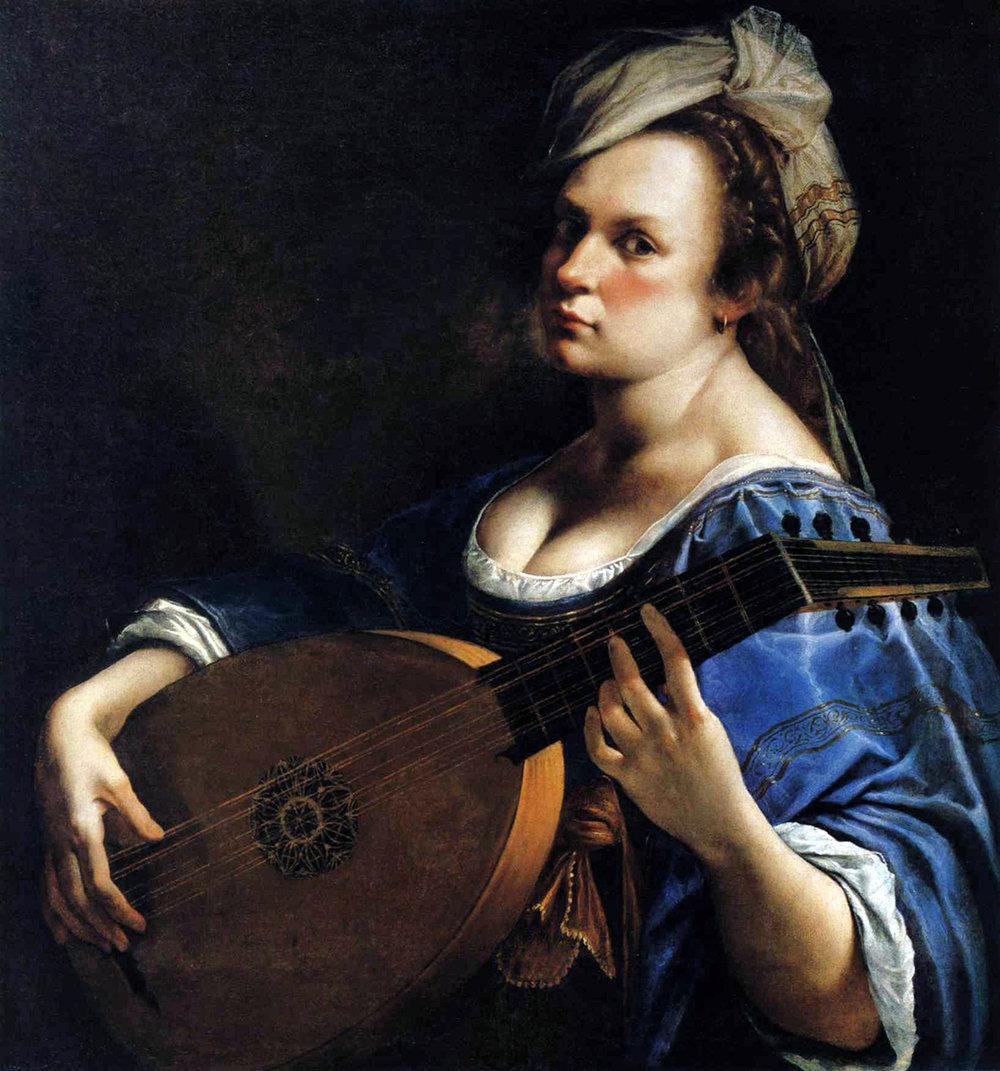 Artemisia Gentileschi – Autoritratto come suonatrice di liuto (1617)