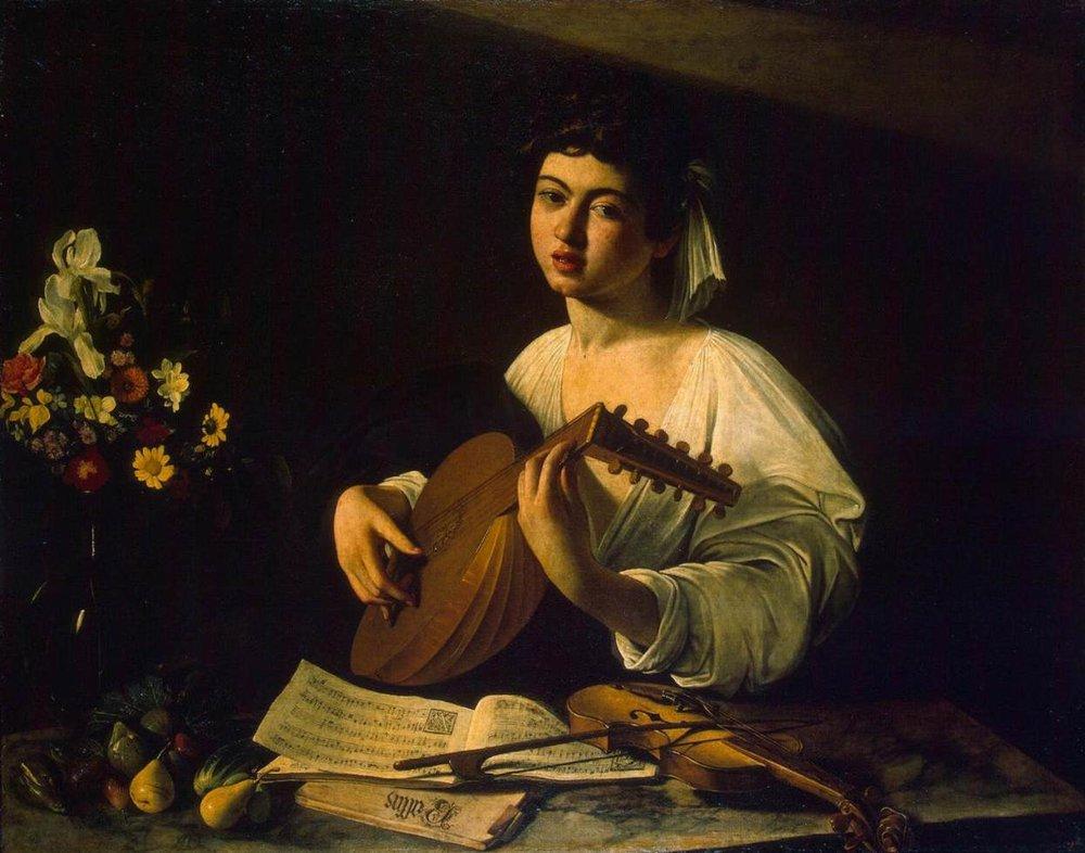 Caravaggio – Suonatore di liuto (1596)