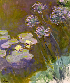 MMT 82323                                Waterlilies and Agapanthus, 1914-17 (see detail 414400) (oil on canvas)                                Monet, Claude (1840-1926)                                MUSEE MARMOTTAN MONET, PARIS, ,