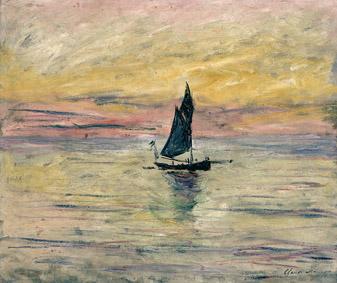 MMT 174318                                                        The Sailing Boat, Evening Effect, 1885 (oil on canvas)                                                        Monet, Claude (1840-1926)                                                        MUSEE MARMOTTAN MONET, PARIS, ,